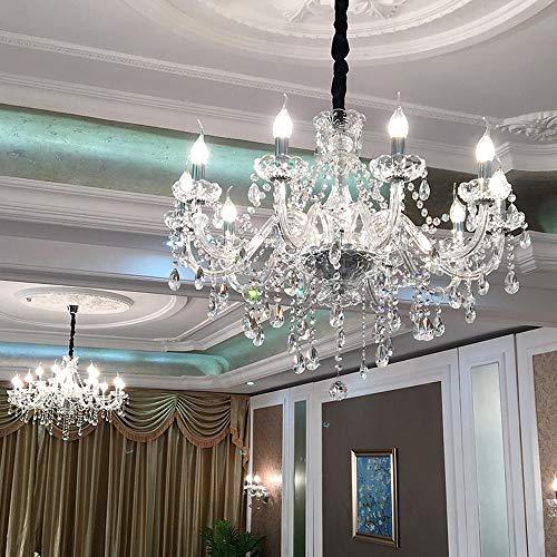 Moderne einfache europäische kerze kronleuchter kristall licht beleuchtung bereich 8-12 platz schlafzimmer wohnzimmer esszimmer hotel dekorative kronleuchter durchmesser 60 cm hoch 60 cm langes Leben -