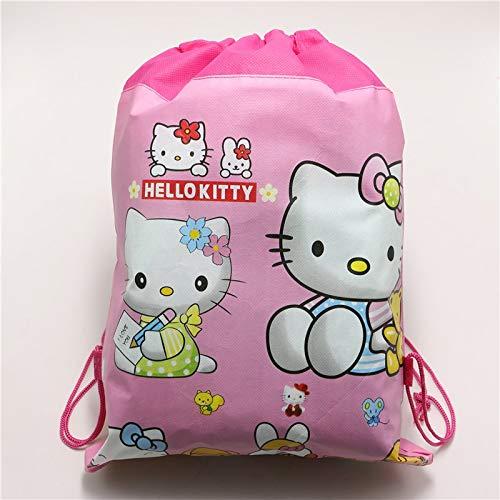 Uniqus 1 Stück \Lot Baby Shower Kids Favors Cartoon Vliesstoff Geburtstag Party Dekoration Hello Kitty Kordelzug Geschenktüten Zubehör