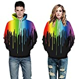 Search : Cfanny Unisex Printed Big Pockets Hoodie Sweatshirt for Couples