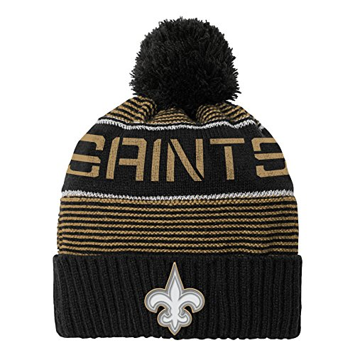 Outerstuff NFL Youth Boys Magna Reflective Cuffed Knit Hat with Pom
