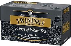 Idea Regalo - Twinings Tè Classici - Prince of Wales - Delicata Miscela di Pregiati Tè Neri Orientali dal Sapore Morbido - Provenienti dalle Province della Cina, tra cui il famoso Yunnan - Note Fruttate e un Lieve Sentore di Cacao (25 Bustine)