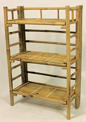 Bambus Regal , Bambusregal mit 3 Böden , Größe : B 56 cm , T 30 cm , H 85 cm .