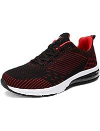Mujer Zapatillas Deportivas Calzado Antideslizante Calzado Deportivo Zapatos de Verano Zapatillas de Deporte 183 - Rojo, 39 EU