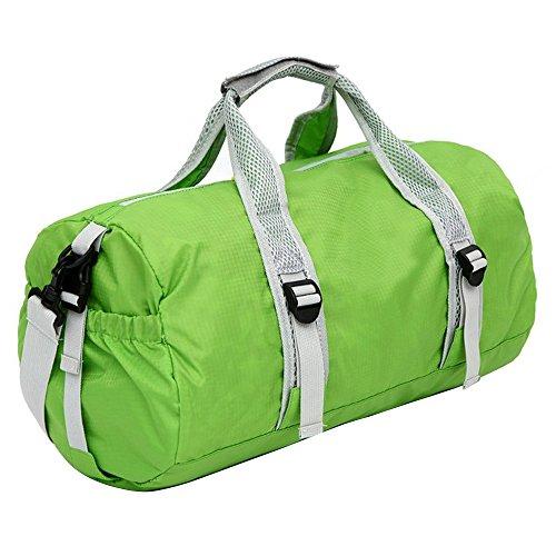 Sijueam Faltbare Tasche Nylon Wasserdichte Reisetasche Multifunktionstasche 3 in 1 Multi Use Bag für Reise Turnhalle Urlaub Grün