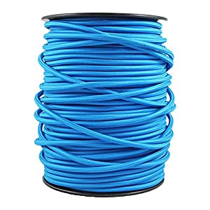 3 hilos smartect Cable para l/ámparas de tela en color Marr/ón - Cable de luz con revestimiento textil 3 x 0,75 mm/² Cable textil trenzado de 5 Metro