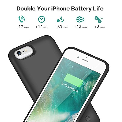 HETP Cover Batteria iPhone 6 6s 7 8 6000 mAh Ricaricabile Custodia ...