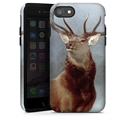 Apple iPhone X Silikon Hülle Case Schutzhülle Hirsch Wald Natur Tough Case glänzend