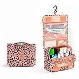 Ouneed Kulturtaschen  Pocket Trip Hanging Toiletry Kit Klar Reisetasche Kosmetiktragetasche Kultur Leopard 2016 (rosa)