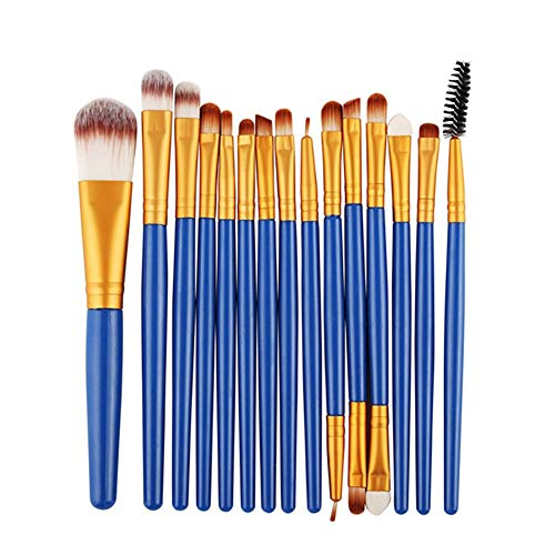 Dosige Pinceau de Maquillage 15 pièces de Maquillage Pinceau Pinceau de Maquillage Base Sourcils Eyeliner Blush Maquillage correcteur Size 20 * 15 * 2cm (Bleu 3)