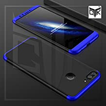 TheGiftKart Honor 9 Lite Back Case Cover: Full Body 3-In-1 Slim Fit Complete 3D 360 Degree Protection Hybrid Hard Bumper (Black & Blue) (LAUNCH OFFER)