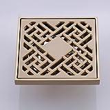 Messing-Badezimmer-Deodorant-Boden-Abfluss-Quadrat-Duschwannen-Abfluss-Filter-Anti-Blockierung