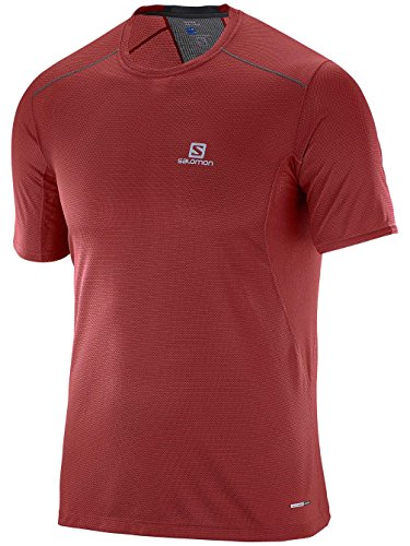 Salomon MC Trail Runner SS Tee M – Maglietta per uomo multicolore (brique x / asfalto)