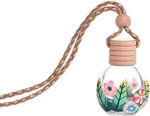 Shyymaoyi Leere Parfümflasche Aus Glas Tragbar Zum Aufhängen Autodekoration Zufällige Farbe Drogerie Körperpflege