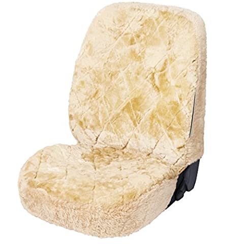 WOLTU AS7334cm Luxury Lambskin Wool Fleece Car Seat Cover Cushion Sheepskin Car Seat Cover Cream for Decoration and Warm in