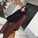 LD Fashion Wollmantel im Langen Absatz Lose Lose Knie Jacke Winterkleidung,Karamell Farbe ,XL