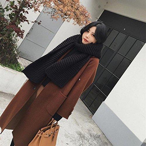 LD Fashion Wollmantel im Langen Absatz Lose Lose Knie Jacke Winterkleidung,Karamell Farbe (Halloween Kostüme Trenchcoat)