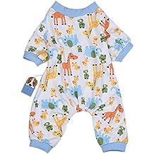 Molie Ropa para mascotas, perros pijamas elefante ciervos patrón algodón pijamas ...