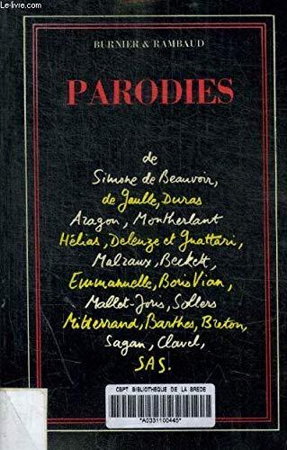 Parodies de Simone de Beauvoir, Per Jakez Helias, Marguerite Duras (French Edition)