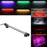 Etelux LED Aquarium Licht Aquarium Beleuchtung für Salzwasser und Süßwasser Lampe Unterwasser Tauchlampen Lampen Röhren 5050 SMD Farbe 12LED-RGB