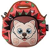 fringoo® Kids Lunch Bag Neopren Thermo Isolierte Reißverschlussfach Schultergurt Kindergarten Kühltasche 29H x 29L x 15W cm Igel