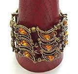 Orientalisches Armband mit Glassteinen altmessing- braun Modeschmuck