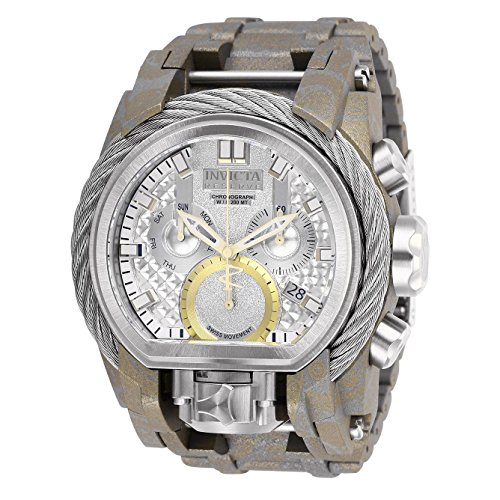 Invicta Men's Reserve Steel Bracelet & Case Swiss Quartz Analog Watch 26438