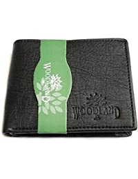 Wood-land Wallet for Mens Black Leather Regular Purse Black (1)