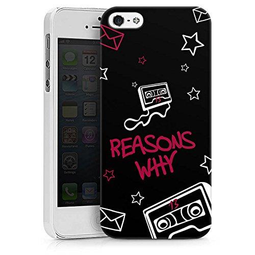 Apple iPhone X Silikon Hülle Case Schutzhülle reasons why 13 reasons Kassette Hard Case weiß