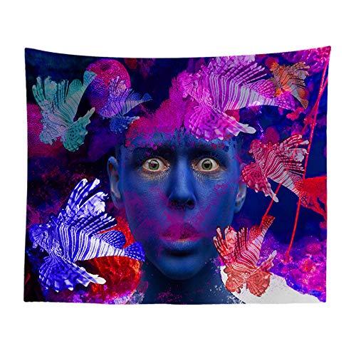 jtxqe Psychedelisch lässt Graffitistraßenkulturart-Tapisserie-Schmutz hängende Stofffarbe geometrischen Tapisseriehintergrund-Wandbehang 990 130-150 -