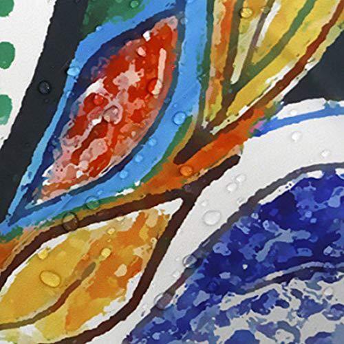 GWELL Duschvorhang mit Digitaldruck inkl. 12 Duschvorhangringe 180x200cm - 6