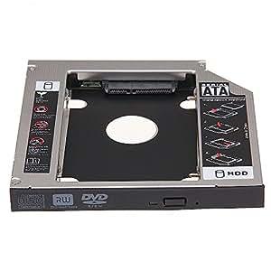 """MEMTEQ 2.5"""" 12.7mm SATA HDD Caddie Caddy Rack Disque Dur pour CD/DVD-ROM PC Universel"""