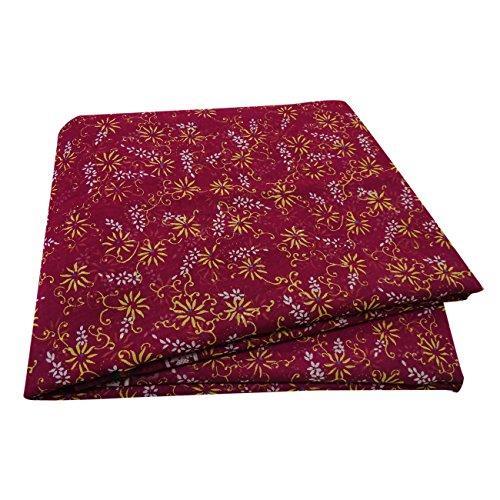 PEEGLI Jahrgang Bedruckt Saree Magenta Seide Mischung DIY Recycelten Vorhang Drapieren Sari (Sari Vorhang Drapieren)