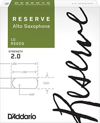 D'Addario Reserve - Ance per sax alto, durezza 2.0; confezione da 10