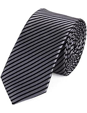 Krawatte von Fabio Farini gestreift in schwarz grau