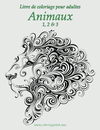 Livre de coloriage pour adultes Animaux 1, 2 & 3