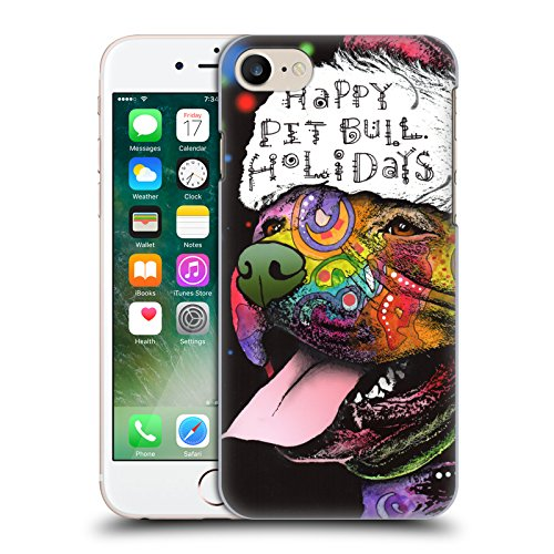 Ufficiale Christmas Mix Dean Russo Pitbull Animali Cover Retro Rigida per Apple iPhone 6 / 6s Dean Russo Pitbull
