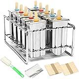 ZUEN Kit de moldes para paletas de Hielo, moldes para paletas de Acero Inoxidable,