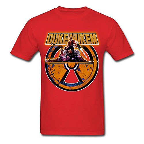 Creative Men's Duke Nukem T-Shirts Red