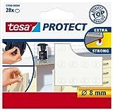 Tesa Protect Lärmstopper, rund, Ø8mm, transparent, 28 Stück