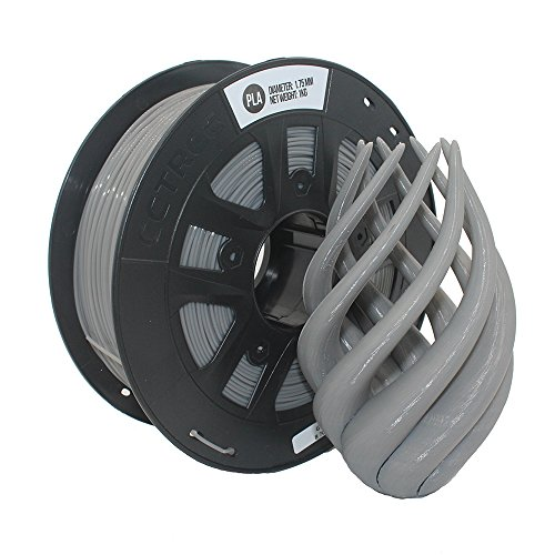 CCTREE 3D Drucker Filament PLA 1.75MM für Creality CR-10S Anet Ender 3 Tevo 1kg Spool (2.2lbs), Grau