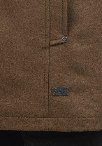 Blend Warren Herren Winter Mantel Wollmantel Lange Winterjacke mit Stehkragen, Größe:L, Farbe:Camel Brown (71517) - 6