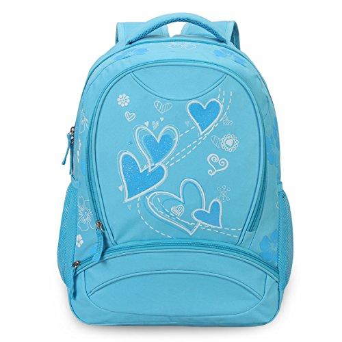 Imagen de veevan  con dulce corazón para niños escolares azul