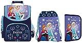 Disney Eiskönigin Frozen Schulranzen Mädchen 1 Klasse | Tornister Schulrucksack Schultasche | SET 4 teilig | für Grundschule | super leicht | inkl. Sticker von Maximustrade