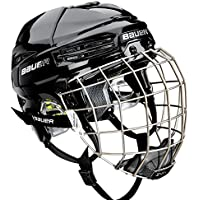 Bauer React 75Combo casco, color negro, tamaño large