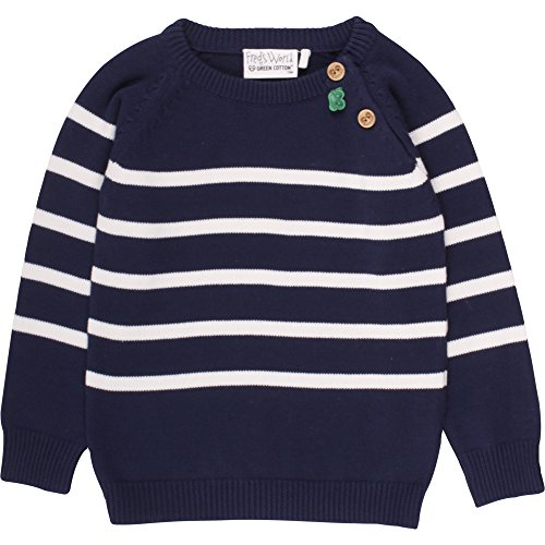 Fred's World by Green Cotton Baby-Jungen Sweatshirt Stripe Knit Sweater, Blau (Navy 019392001), 86 (Jumper Stripe)