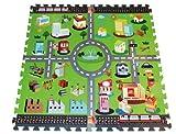Solex PuzzlemaTTe Strassen 9 Stück-set, bunt, 94 x 94 x 1 cm, 41219