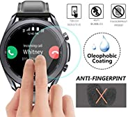 [5-Pack] for Galaxy Watch 3 45mm screen protector, HD Clear Scratch Resistant Bubble Free Anti-Fingerprints 9H