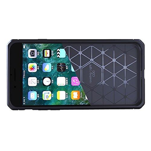 JIALUN-étui pour téléphone Pour Apple IPhone 7 Housse Anti-vibration Cool Back Cover Housse de protection ( Color : Dark Blue ) Dark Gray
