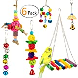 XMSSIT Small Parrot Cage Toys for Parakeets Cockatiels Conures Love Birds
