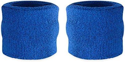 Suddora polsini assorbi sudore per bambini, in cotone e spugna, polsini per sport (1 paio)